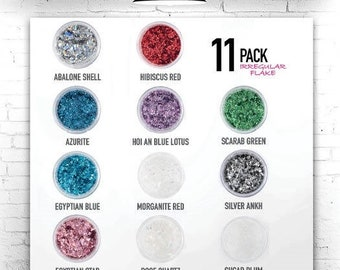 Eye Candy Mica Pigments 11 COLOURS- IRREGULAR FLAKES