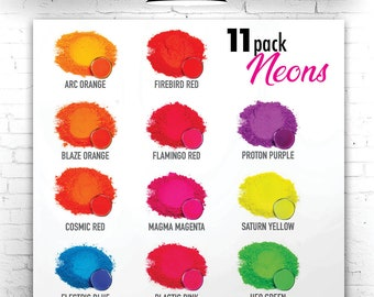 NEON Eye Candy Mica Pigments 15 Color Variety Pack - NEON SAMPLE