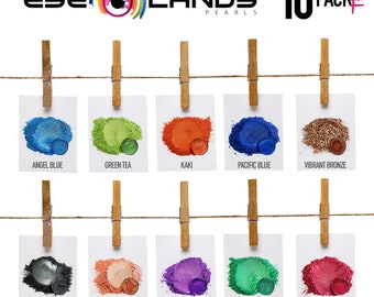 Eye Candy Mica Pigments 10 Color Variety Pack F VARIETY