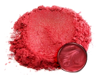 25 Gram - Eye Candy Mica Pigments - RED ROSE