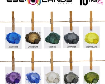 Eye Candy Mica Pigments 10 Color Variety Pack G- VARIETY