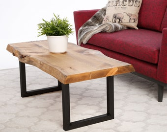 "15"" Steel Coffee table U-Shape Legs Black Powder Coat"