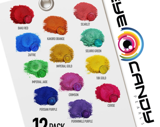Eye Candy Mica Pigments 12 Color Sample Set Q-OPULENT