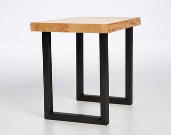 """20"""" Steel Side table U-Shape Legs Black Powder Coat"""