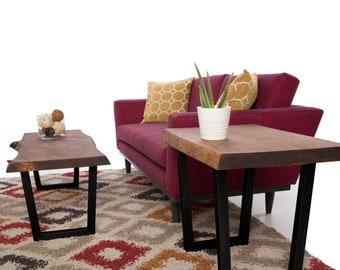 "15"" Steel Coffee table V-Shape Legs Black Powder Coat"