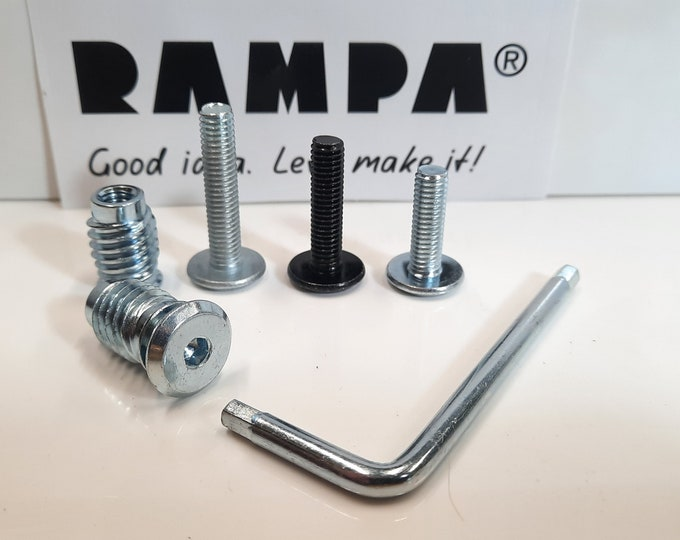RAMPA Bolts & Inserts for furniture