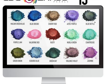 Eye Candy Mica Pigments 15 Color HUE VARIETY