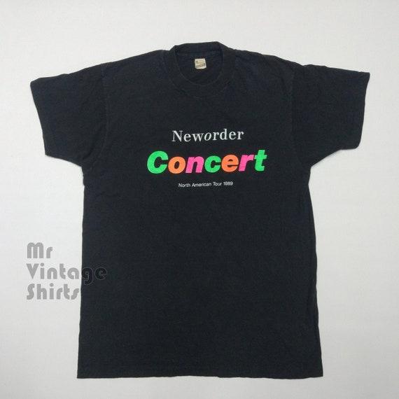 1989 New Order Concert vintage t-shirt. Free shipp