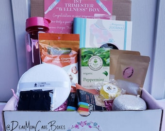 """First Trimester Pregnancy Care Box/ First Trimester  """"WELLNESS"""" Box   1st Trimester Gift   The Perfect  Pregnancy Gift for loved one"""