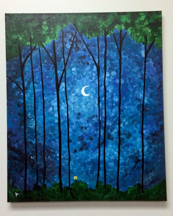 "Glowing Moon  16""x20"""