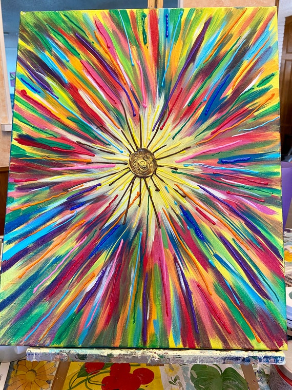 "Rainbow Burst  16""x20"""