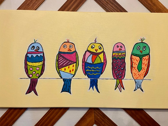 Crazy Bird painting