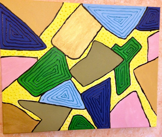 """Collage of color   16""""x20"""""""