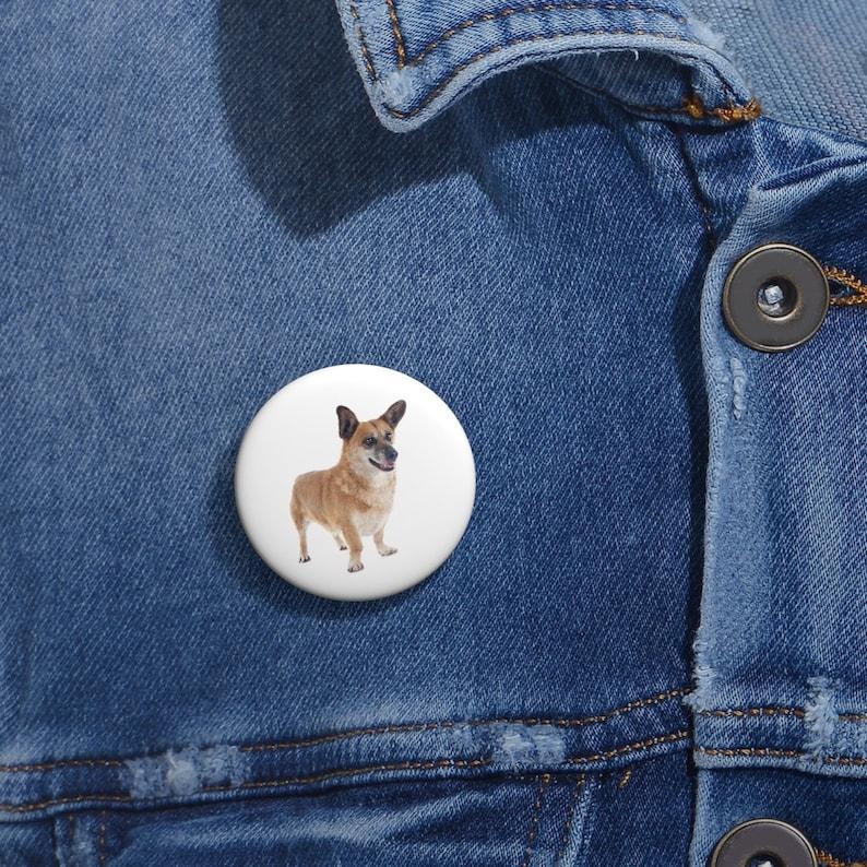 Welsh Corgi  Pin Button Set Welsh Corgi Button Hat Pin Lapel Pins Enamel Pins Lapel Pin Funny Pin