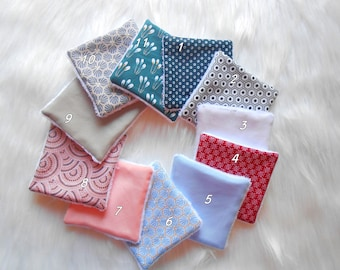 Washable wipes, make-up removers or baby wipes, cotton fabric, bamboo sponge