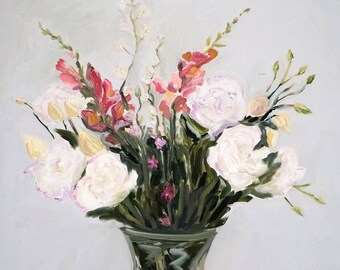 Lisianthus and Snapdragons 5x7 Card
