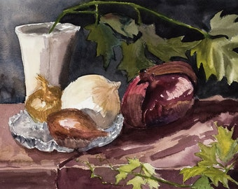 Onions, Shallot and Ivy 5x7 Card