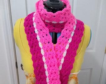 Digital Download of Crochet Pinstripe Scarf Pattern
