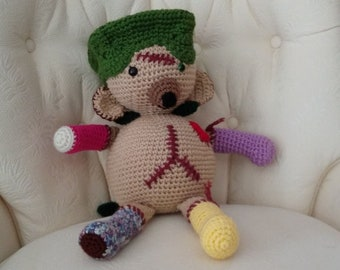 Digital Download of Crochet Pattern for Amigurumi FrankenBear