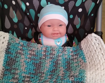 Digital Download of Crochet Pattern for Carseat or Carrier Baby Blanket