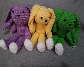 Digital Download of Pattern for Crochet Bunny Amigurumi Toy