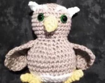 Digital Download of Crochet Small Owlet Amigurumi Toy