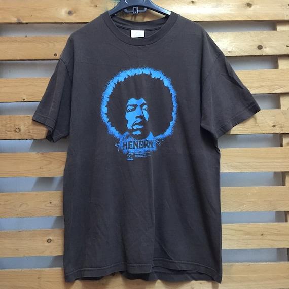 jimi hendrix face illust on t shirt rare