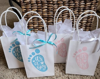 Personalized Nautical Baby Shower Favor Bags for Thank You Gifts Party Favors