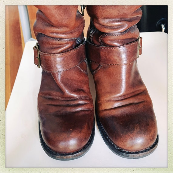Fiorentini & Baker 1970's Style Chunky heel Boots