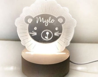 LED child bedroom watch, baby shower gift, birth, baby lamp