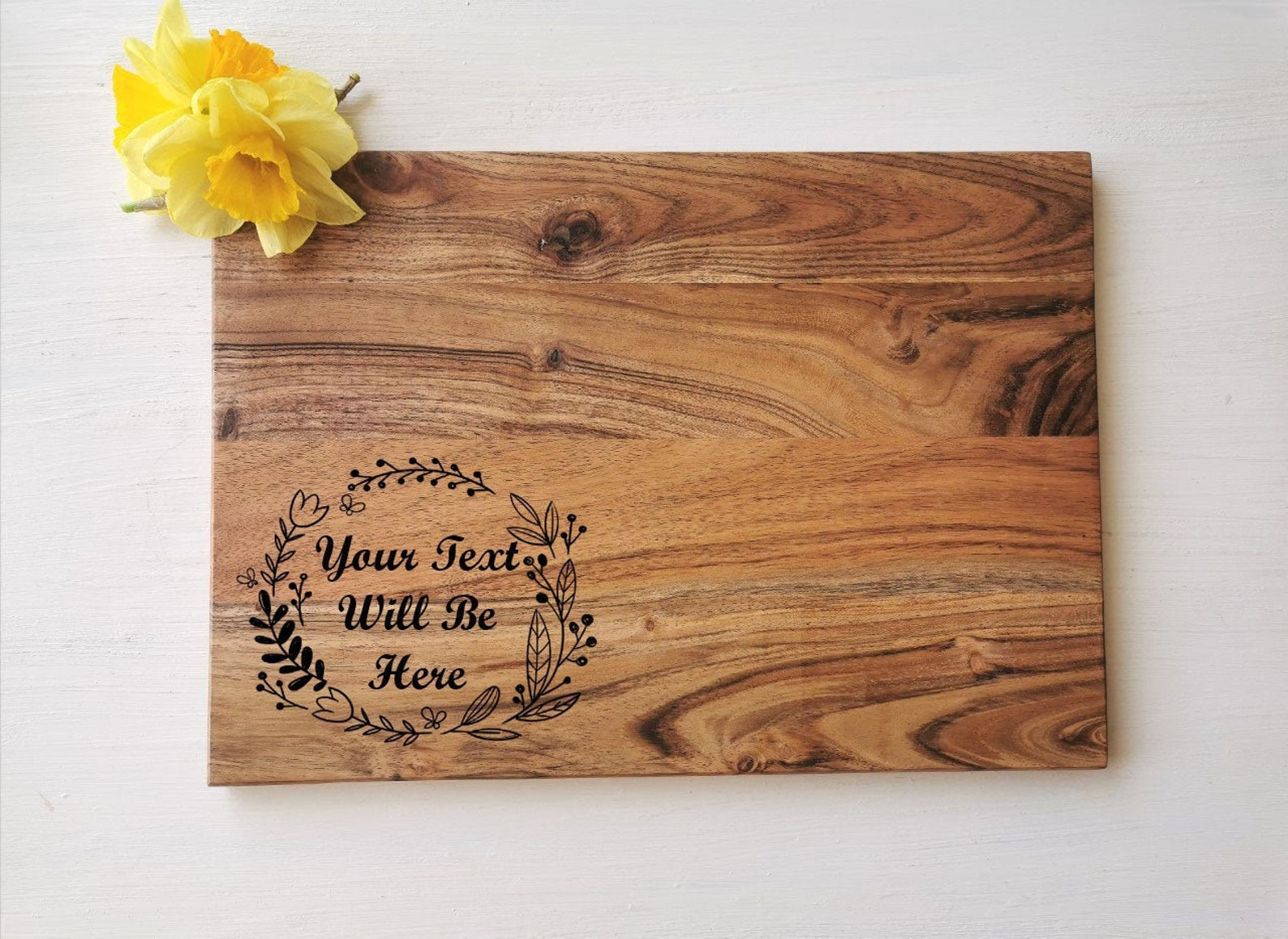 Personalised Wood Chopping Board
