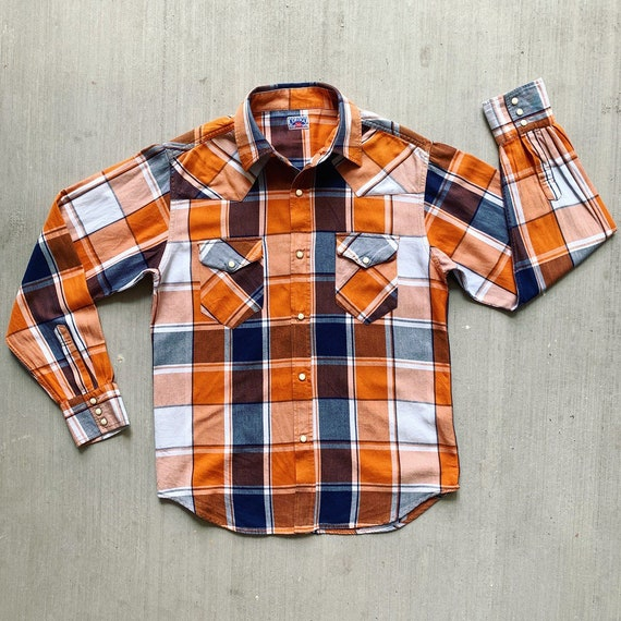 Vintage CORISCO Plaid Work Shirt