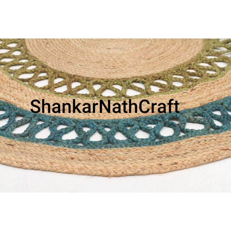 Handmade Jute Rug Rag Decorative Rug Beautiful Traditional Natural Jute Rugs Hand Woven Eco Rugs Floor Area Decor Rugs Round Jute Rugs