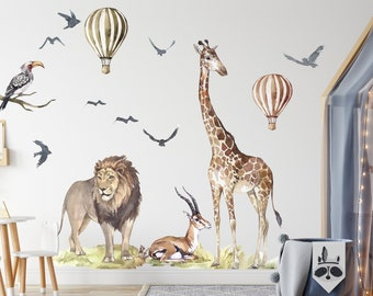 Real Life Lion Wall Decal  Kid/'s Room Man Cave Classroom School  Mascot Animal Safari  Removable Wall Art  Vinyl Wall Decal
