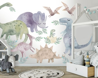 HEALLILY Animal Wall Sticker Road Cartoon Wall Decal Removable Wall Sticker Decorative Wall Paper for Kids Bedroom Nursery Room
