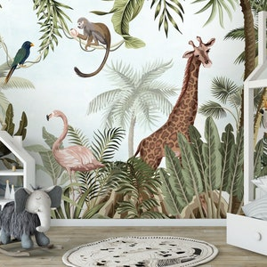 Jungle Wallpaper Etsy