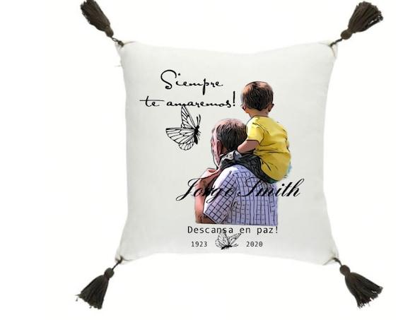 Siempre te amaremos Pillow  16 X 16 inch RIP Cojines en memoria de seres queridos.
