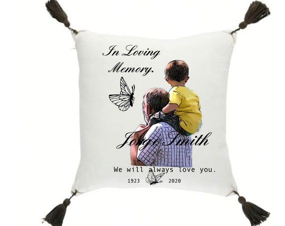 In loving Memory Pillow  16 X 16 inch RIP Cojines en memoria de seres queridos.