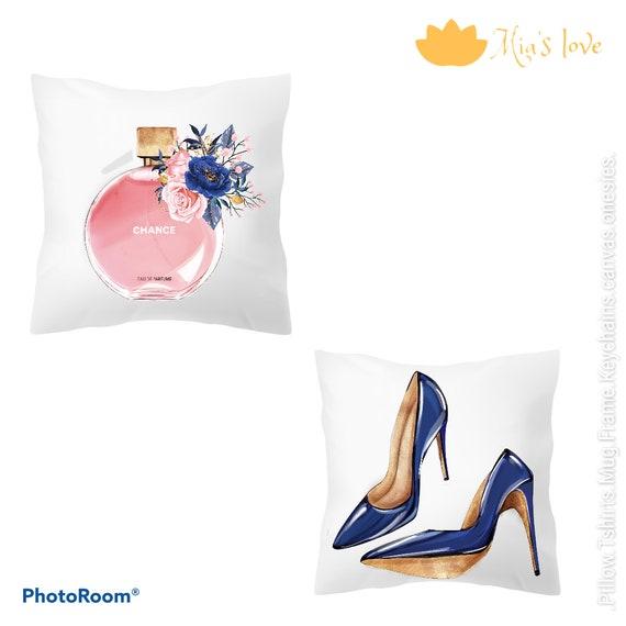 "Cushions fashion clip art decorated 16"" 16"" channel heel flower"