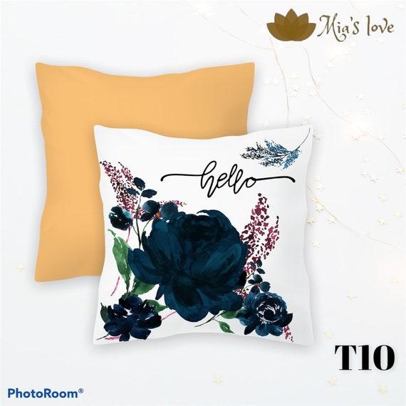 Blue acuarela Pillow  Home decor pillow cushions sofa bedroom cojines y funda para sala 16x16