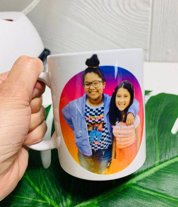 Photo mugs customized gifts special gifts with photos porcelain cups 12 oz.