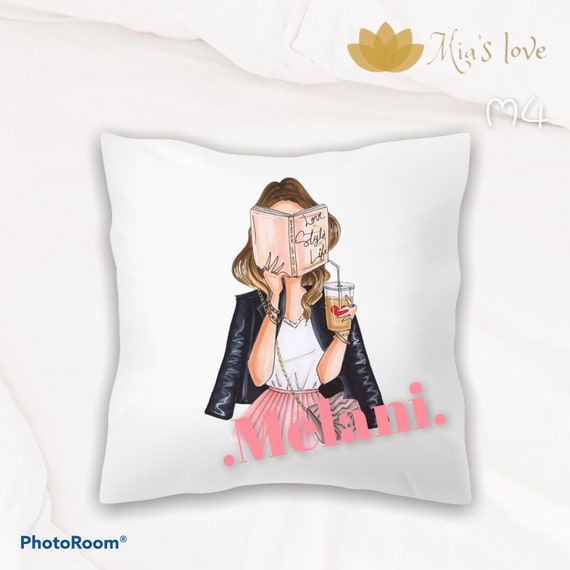 """Cushions fashion name clip art decorated 16"""" 16"""" levis starbucks minnie style"""