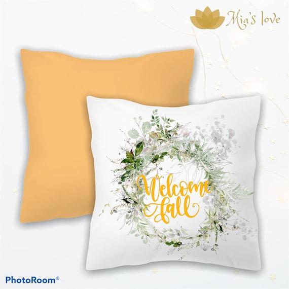 Fall Home decor pillow cushions sofa bedroom cojines de sala 16x16 welcome home fall autumn hello