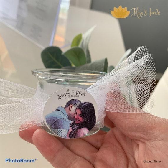 Custom candles for weddings 10 stylish pcs with custom candle photos