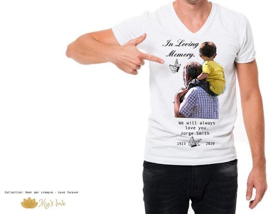In loving Memory RIP Custom  white Tshirts