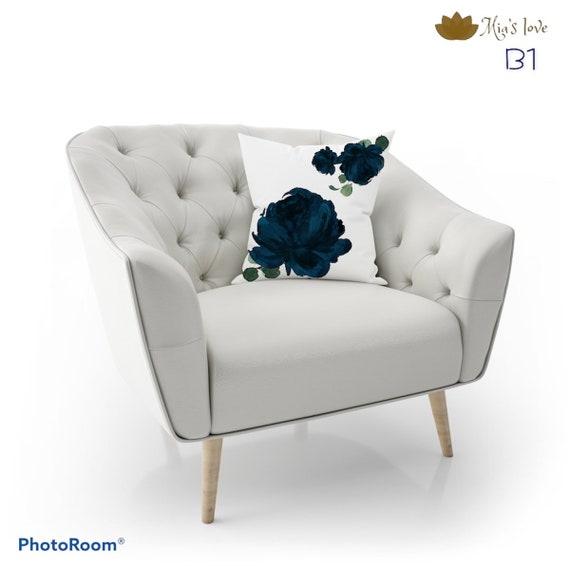 Cojines Flores  acuarela eucalipto Pillow  Home decor pillow cushions sofa bedroom cojines y funda para sala 16x16