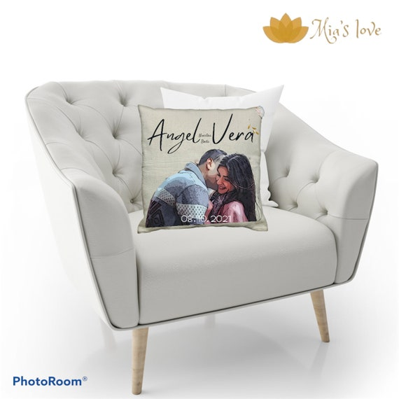 Custom wedding pillow wedding cushions wedding decorations canvas and cotton 18x18