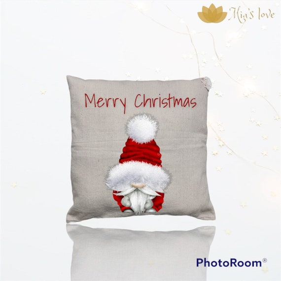Gnome decor cushions sofa bedroom surprise gifts 18x18 christmas pillow