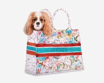 Custom Dog portrait | Watercolor personalised original poster | Elegant wall art | Portrait of your pet