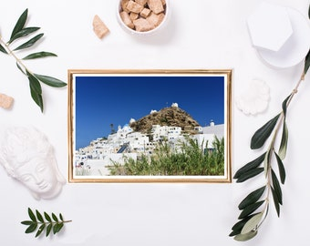 """A digital image """"Ios Trio"""" taken on the Greek island of Ios, the 3 majestic churches standing proud on top of the island."""